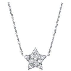 0.27 Carat Diamond Large Star Pendant Necklace in 14 Karat Gold - Shlomit Rogel