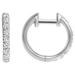 0.27 Carat Lori Diamond Hoop Earrings in 14 Karat White Gold - Shlomit Rogel