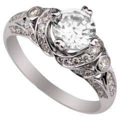 Shlomit Rogel, 0.88 Carat Afrodita Diamond Ring in 14 Karat White Gold