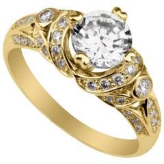 Shlomit Rogel,  AFRODITA Diamond Ring VS1 GIA in 14 KARAT Yellow Gold