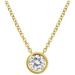 Shlomit Rogel 0.50 Carat Diamond Pendant Necklace in 14 Karat Yellow Gold