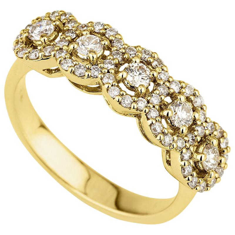 "0.69 Carat ""Celine"" Diamond Ring in 14 Karat Yellow Gold - Shlomit Rogel"