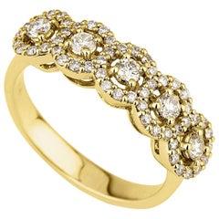 Shlomit Rogel - 0.69 Carat Celine Diamond Ring in 14 Karat Yellow Gold