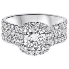 "1.70 Carat ""Mia"" Diamond Ring in 14 Karat White Gold Atelier Collection"