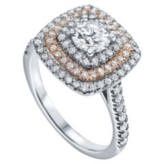 Shlomit Rogel 1.2 Carat Triple Halo Engagement Ring in 14 Karat White Gold