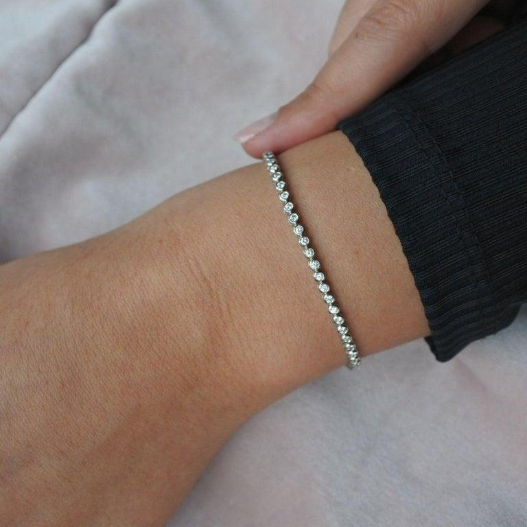 1.20 Carat Diamonds Tennis Bracelet in 14 Karat White Gold - Shlomit Rogel For Sale 1