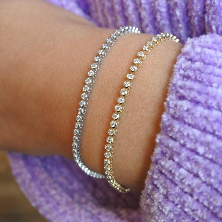 1.20 Carat Diamonds Tennis Bracelet in 14 Karat White Gold - Shlomit Rogel For Sale 4