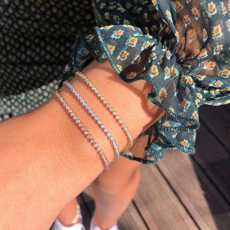 1.20 Carat Diamonds Tennis Bracelet in 14 Karat White Gold - Shlomit Rogel For Sale 5