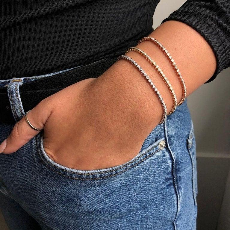 1.20 Carat Diamonds Tennis Bracelet in 14 Karat White Gold - Shlomit Rogel For Sale 6