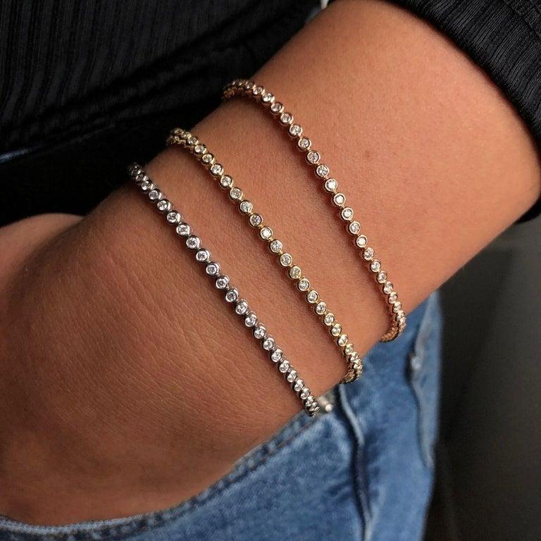 1.20 Carat Diamonds Tennis Bracelet in 14 Karat White Gold - Shlomit Rogel For Sale 7