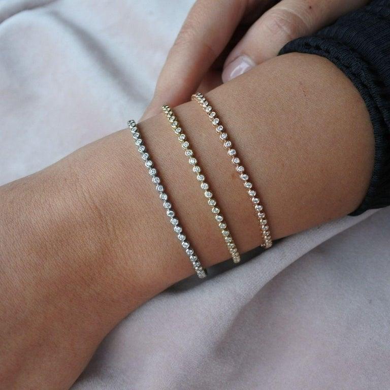1.20 Carat Diamonds Tennis Bracelet in 14 Karat White Gold - Shlomit Rogel For Sale 8