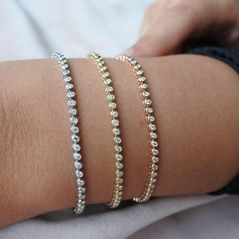 1.20 Carat Diamonds Tennis Bracelet in 14 Karat White Gold - Shlomit Rogel For Sale 9