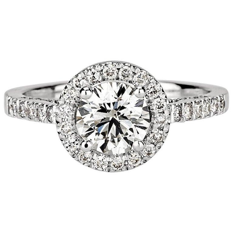 Shlomit Rogel, 1.62 Carat EGL Certified Diamond Ring in 18 Karat White Gold For Sale