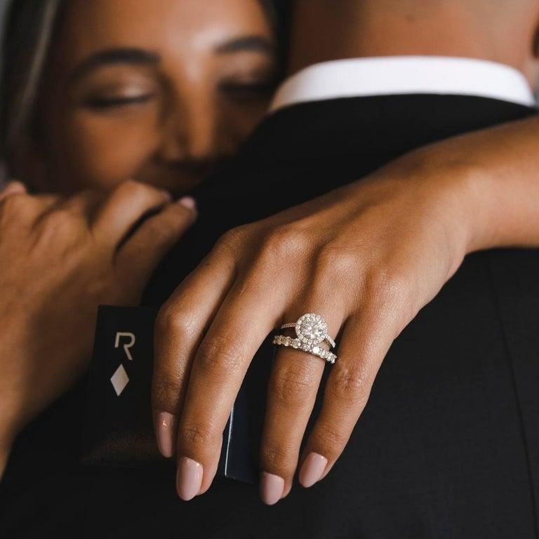Women's Shlomit Rogel, 1.62 Carat EGL Certified Diamond Ring in 18 Karat White Gold For Sale