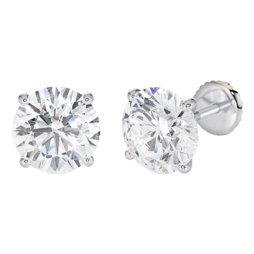 2.00 Carat Excellent Cut Extra Shiny Natural Diamond Studs Earrings