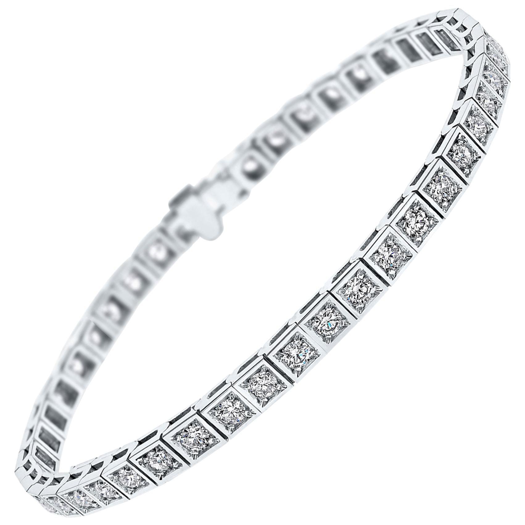 2.13 Carat Diamond Tennis Bracelet in 14 Karat White Gold - Shlomit Rogel