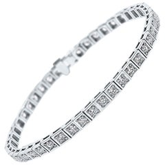 Shlomit Rogel - 2.13 Carat Diamond Tennis Bracelet in 14 Karat White Gold