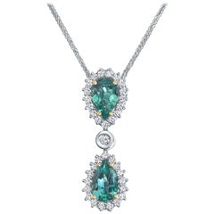 2.23 Carat IGL Certified Natural Zambian Emerald Diamond Pendant - Shlomit Rogel