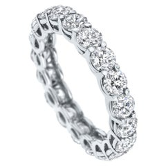 "4.00 Carat ""Lir"" Eternity Diamond Band in 14K White Gold - Shlomit Rogel"