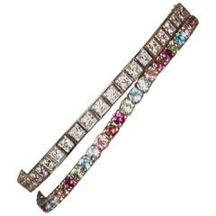 Shlomit Rogel GemGlam 7.5 Carat Tennis Bracelet in 14 Karat White Gold