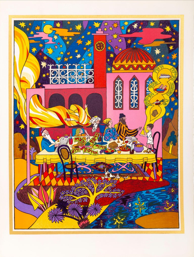 Haggadah of Passover, Suite of 13 Lithographs by Shlomo Katz 1978 For Sale 6