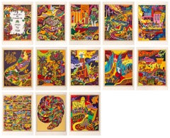 Haggadah of Passover, Suite of 13 Lithographs by Shlomo Katz 1978
