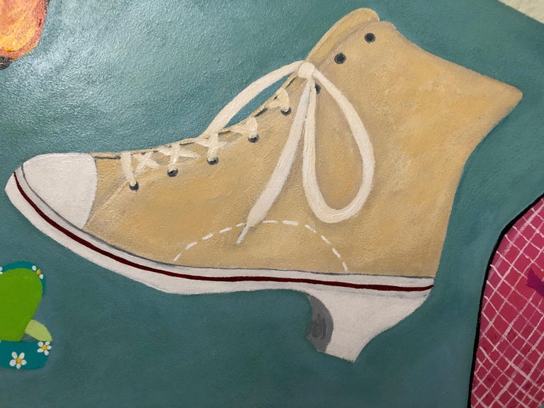 Shoe Crazy Person's Dream Painting In Excellent Condition For Sale In Hopewell, NJ