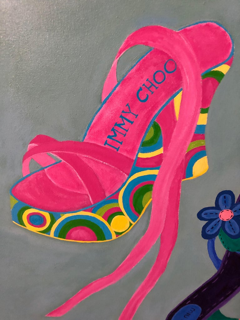 20th Century Shoe Crazy Person's Dream Painting For Sale