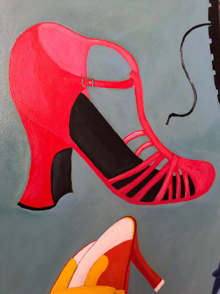 Shoe Crazy Person's Dream Painting For Sale 1