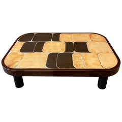 """""""Shogun"""" Ceramic Coffee Table by Roger Capron, France, 1960s"""