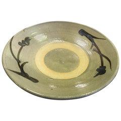 Shoji Hamada Japanese Glazed Handcrafted Plate with Original Signed Sealed Box