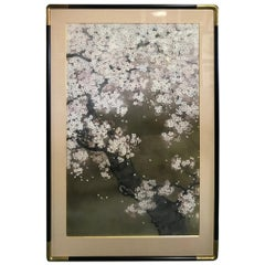 Shoko Ohta Large Japanese Original Cherry Blossoms Tree Serene Nihonga Painting