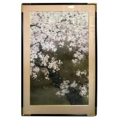 Shoko Ohta Large Japanese Original Cherry Blossoms Tree Serene Nihonga Painting
