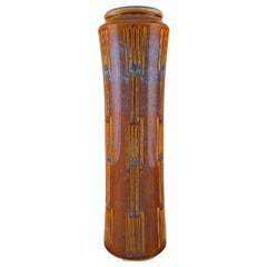 Søholm, Bornholm, Large Cylindrical Vase in Glazed Ceramics, 1960s