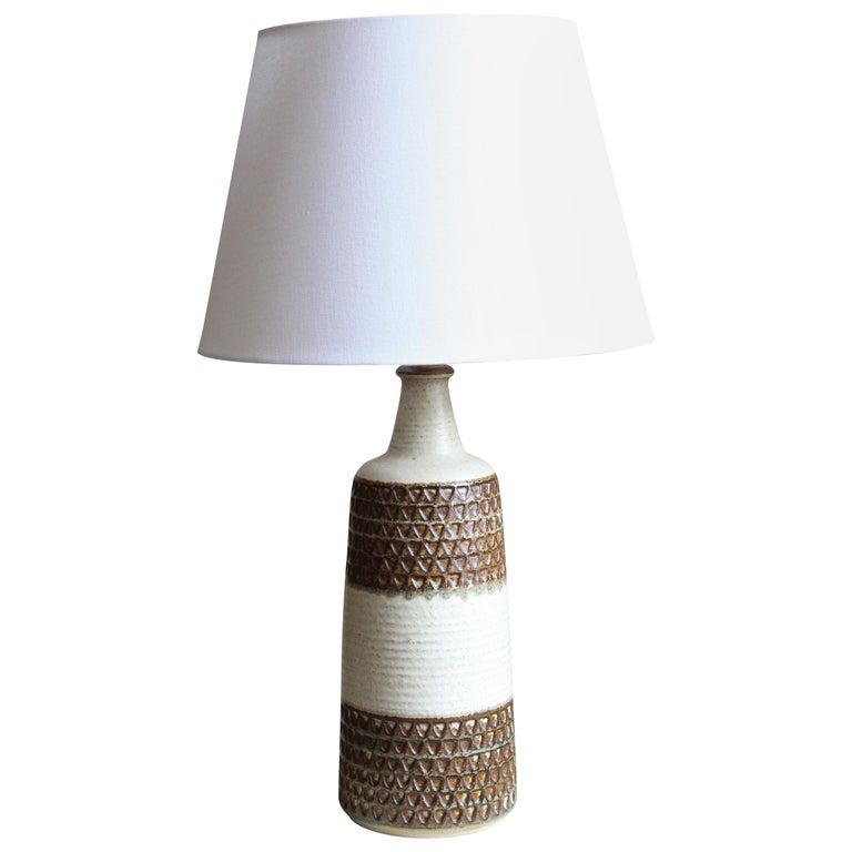 Søholm Keramik, Large Table Lamp, Glazed Stoneware, Bornholm, Denmark, 1960s For Sale