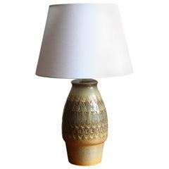Søholm Keramik, Large Table Lamp, Glazed Stoneware, Bornholm, Denmark, 1960s
