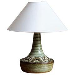Søholm Keramik, Sizeable Table Lamp, Glazed Stoneware, Bornholm, Denmark, 1960s