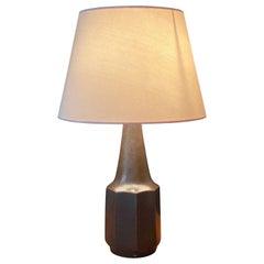 Søholm Keramik, Table Lamp, Glazed Grey Stoneware, Bornholm, Denmark, 1960s