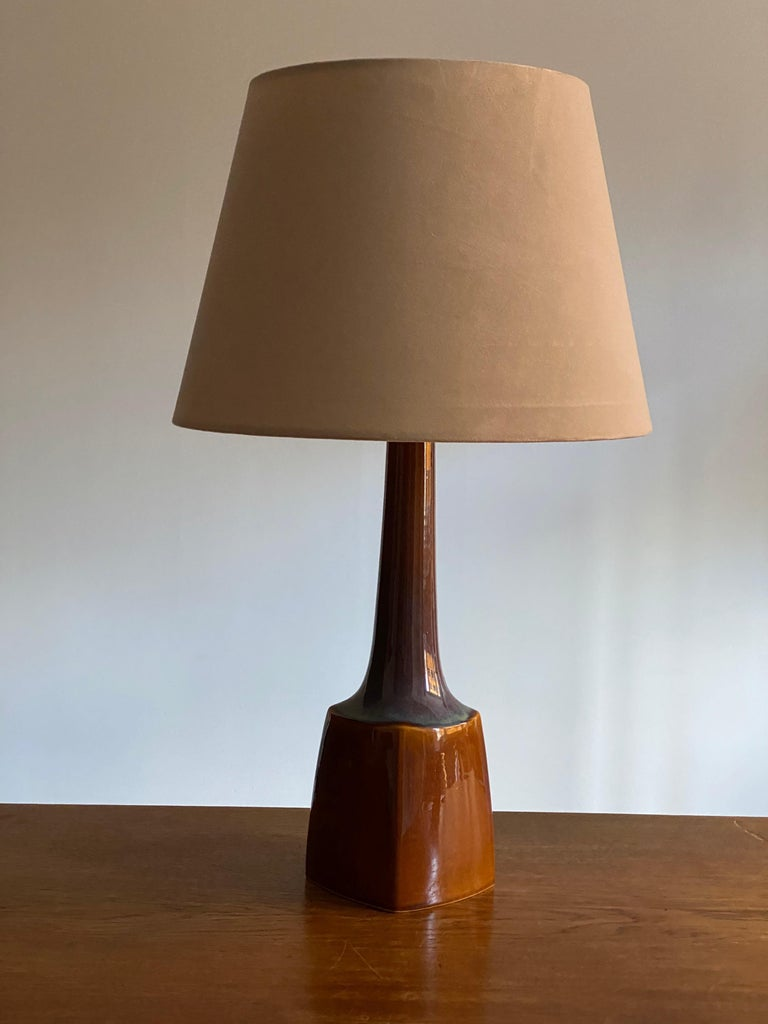 Mid-Century Modern Søholm Keramik, Table Lamp, Glazed Stoneware Bornholm, Denmark, 1960s For Sale