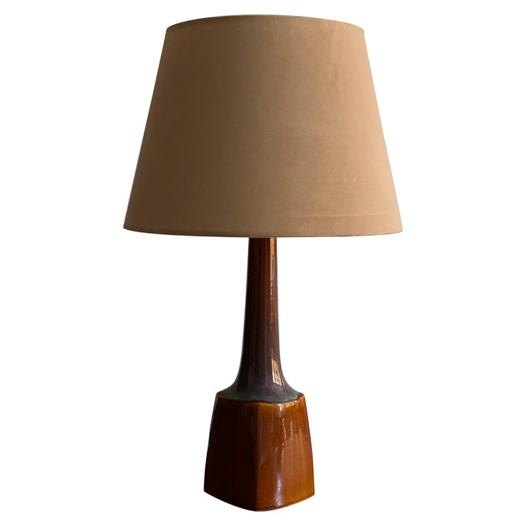 Søholm Keramik, Table Lamp, Glazed Stoneware Bornholm, Denmark, 1960s For Sale