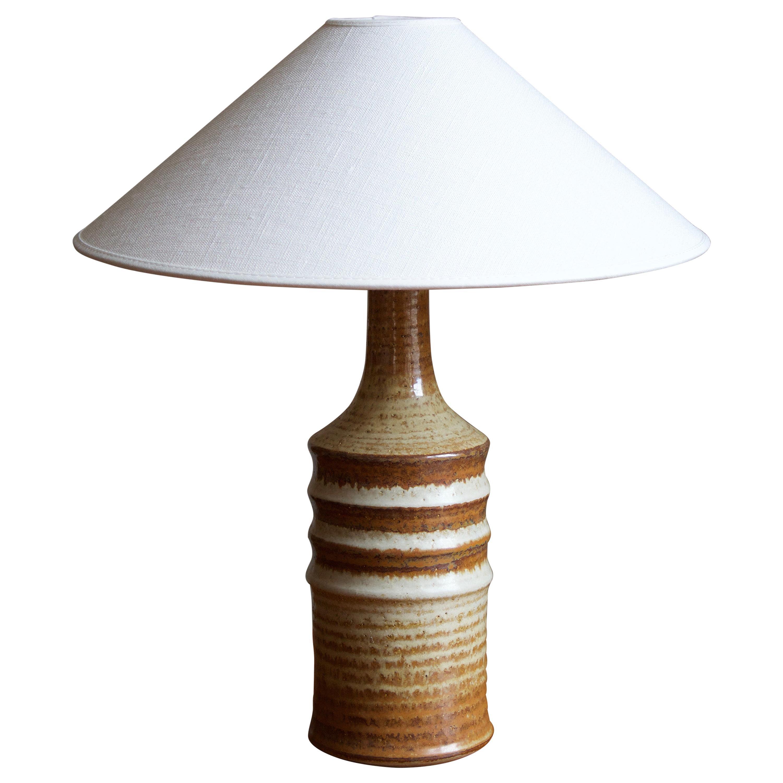 Søholm Keramik, Table Lamp, Glazed Stoneware, Bornholm, Denmark, 1960s