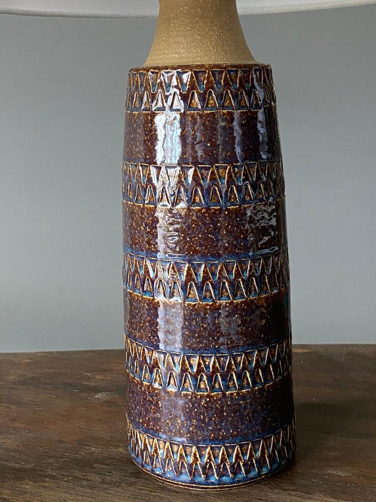 Mid-20th Century Søholm Keramik, Table Lamps, Glazed Stoneware, Bornholm, Denmark, 1960s For Sale