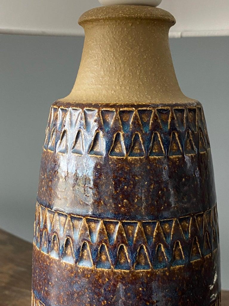 Søholm Keramik, Table Lamps, Glazed Stoneware, Bornholm, Denmark, 1960s For Sale 1
