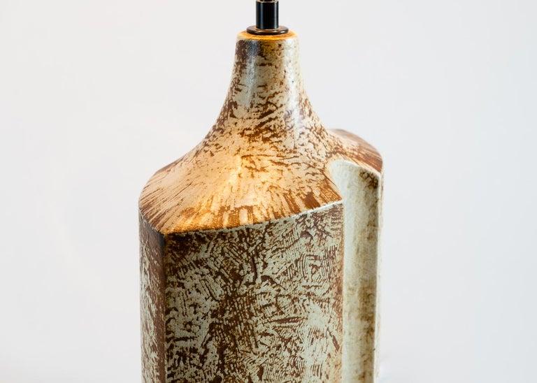 Danish Søholm Stenhøj, Midcentury Stoneware Table Lamp, Denmark, circa 1960 For Sale