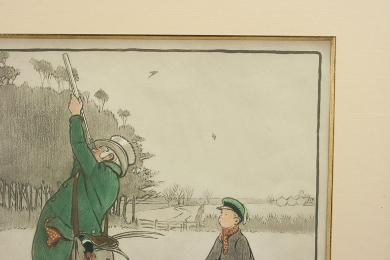 Sporting Art Shooting Print, The Shot by Cecil Aldin For Sale