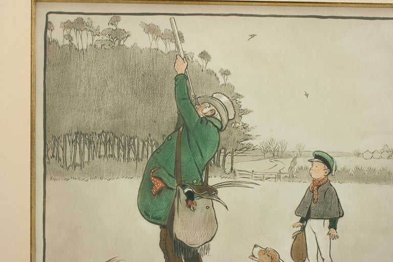 Shooting Print, The Shot by Cecil Aldin In Good Condition For Sale In Oxfordshire, GB