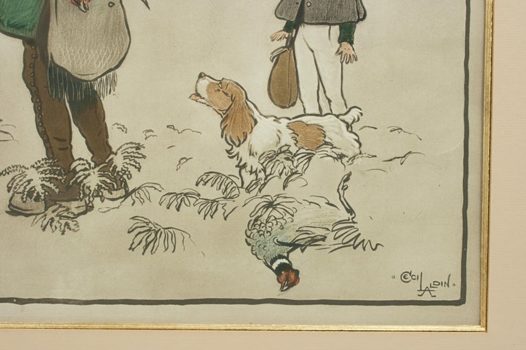Paper Shooting Print, The Shot by Cecil Aldin For Sale