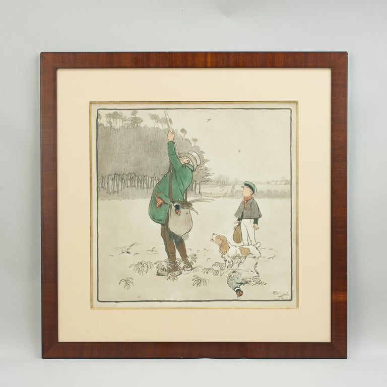 Shooting Print, The Shot by Cecil Aldin For Sale 2