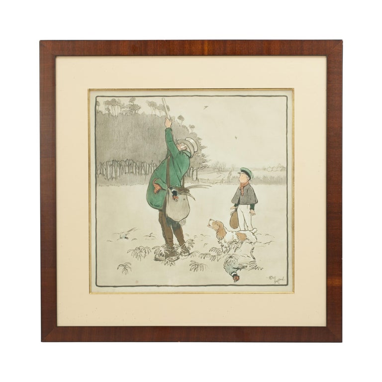 Shooting Print, The Shot by Cecil Aldin For Sale