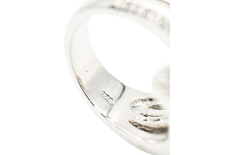 Shooting Star Sterling Silver and Crystal Ring For Sale 1